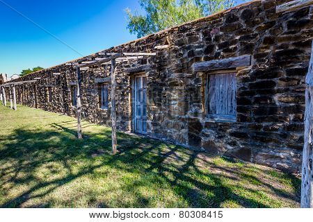 The Historic Old West Spanish Mission San Jose, Founded In 1720, San Antonio, Texas. Living Quarters