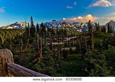 Sunset Paradise at Paradise Lodge on Mount Rainier