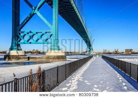 Under Ambassador Bridge