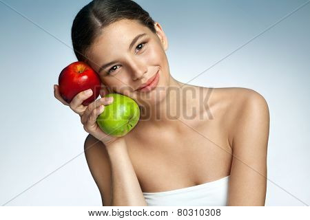Beautiful and Healthy, natural organic raw fresh food concept
