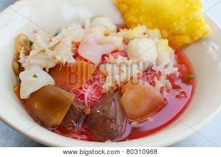 Seafood Yong Tau Foo (rice Noodles With Fishball).