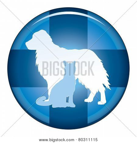 Veterinarian Medical Symbol Button