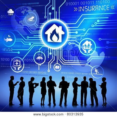 Vector of Business People Discussing about Accident Insurance