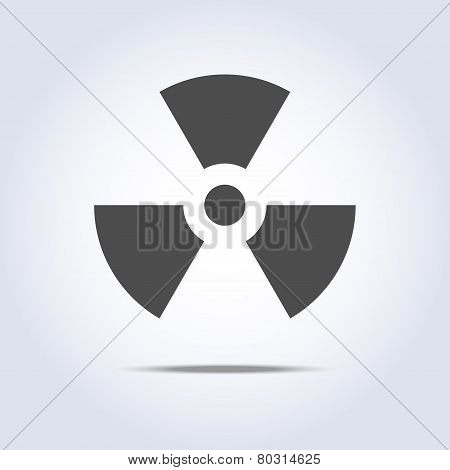 Radioactivity icon in gray colors