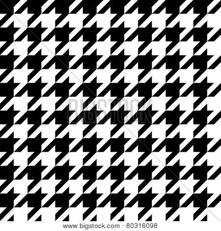 Houndstooth pattern, seamless vector.