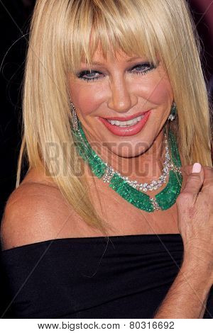 PALM SPRINGS, CA - JAN 3: Suzanne Somers arrives at the 2015 Palm Springs International Film Festival Awards Gala at the Palm Springs Convention Center on January 3, 2015 in Palm Springs, CA.