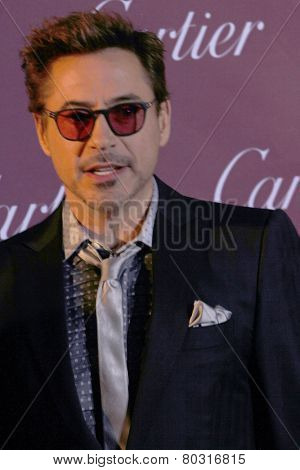 PALM SPRINGS, CA - JAN 3: Robert Downey Jr. arrives at the 2015 Palm Springs International Film Festival Awards Gala at the Palm Springs Convention Center on January 3, 2015 in Palm Springs, CA.