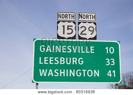 Sign in Northern Virginia