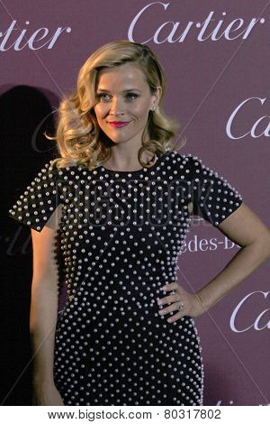 PALM SPRINGS, CA - JAN 3:  Reese Witherspoon arrives at the 2015 Palm Springs International Film Festival Awards Gala at the Palm Springs Convention Center on January 3, 2015 in Palm Springs, CA.