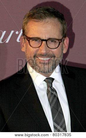 PALM SPRINGS, CA - JAN 3: Steve Carell arrives at the 2015 Palm Springs International Film Festival Awards Gala at the Palm Springs Convention Center on January 3, 2015 in Palm Springs, CA.