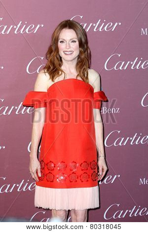 PALM SPRINGS, CA - JAN 3: Julianne Moore arrives at the 2015 Palm Springs International Film Festival Awards Gala at the Palm Springs Convention Center on January 3, 2015 in Palm Springs, CA.