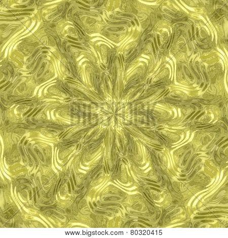 Radial Alien Fluid Metal Generated Texture