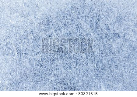 Frozen surface background with ice pattern