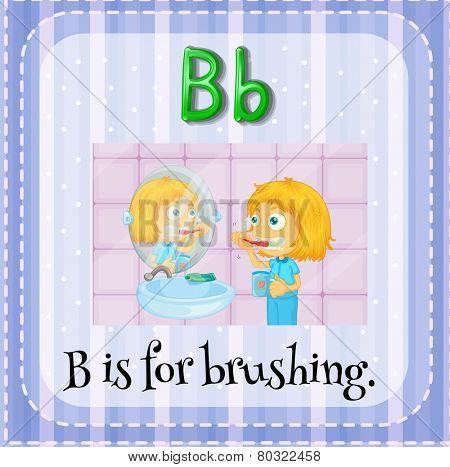 A letter B for brushing