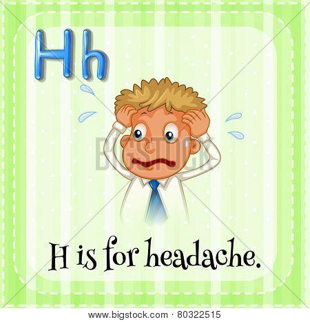 A letter H for headache
