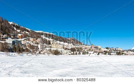 Stunning view of Saint Moritz