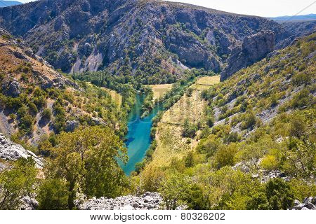 Wild Landscape Of Zrmanja And Krupa Rivers Canyon