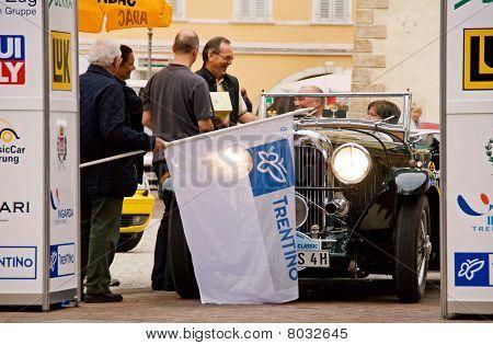 Vintage Car In Start