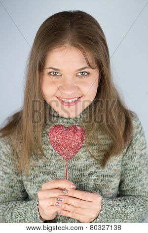 Girl With Valentines Heart