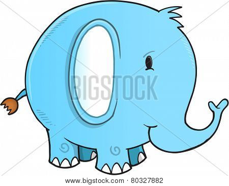 Cute Elephant Vector Illustration Art