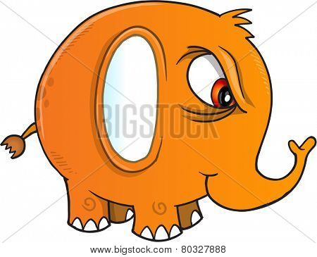 Nasty Elephant Vector Illustration Art