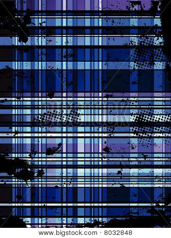 Checkered Blue Grunge Background. Editable Vector Illustration