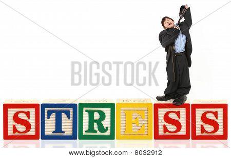 Alphabet Blocks And Boy In Suit