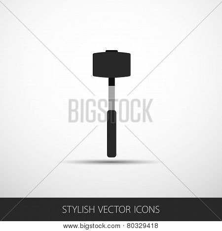 Vector Sledgehammer In A Flat Style With Shadow.
