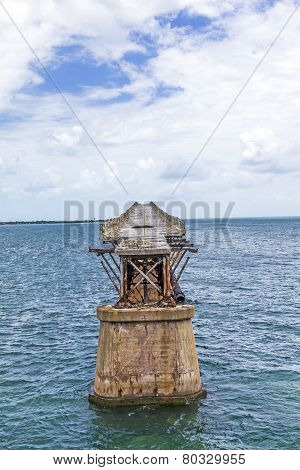 Old Railroad Bridge On The Bahia Honda Keys