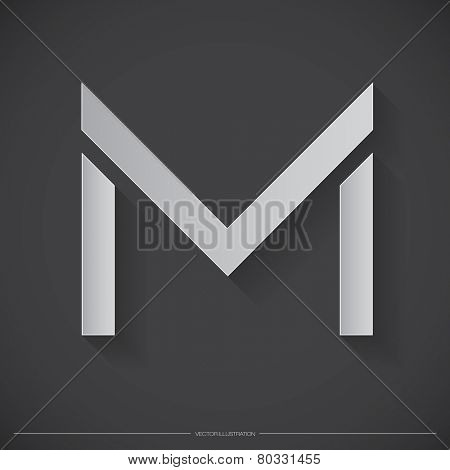 Letter M Logo, Icon, Design Template Elements for Your Company | EPS10 Vector