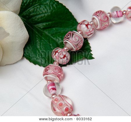 Hand Made Bracelets In Pink
