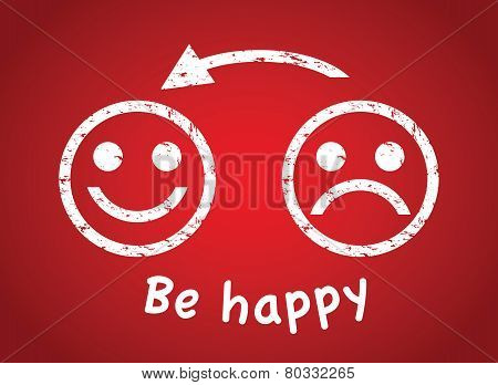 sad face to a happy face
