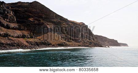 High Oceanfront Cliffs Of Fogo