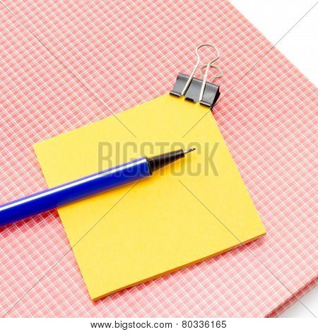 Sticky Note With Supplies