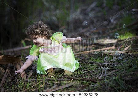 Little Girl Dressed As A Fairy