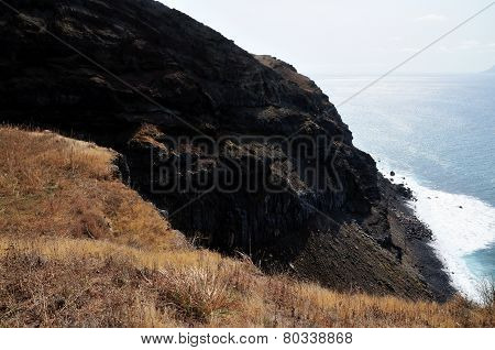 Cliff Eroding Into Sea