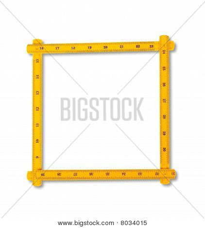 Carpenter Rule Looking Like Number Zero