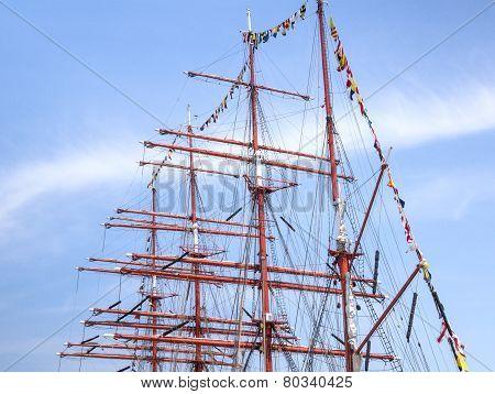 Old Sailing Boat Rigging