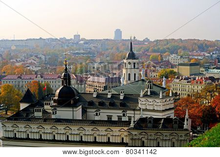 Vilnius Autumn Panorama From Gediminas Castle Tower