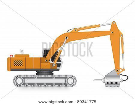 Backhoe_hydraulics_hammer