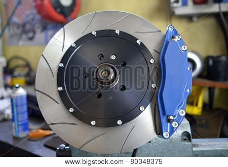 Disc And Blue Brake Pads