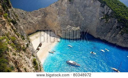 Navagio - Shipwreck Beach in Zakynthos Island, Greece