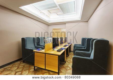 Internet cafe interior