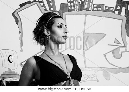 Graffiti Fashion Model