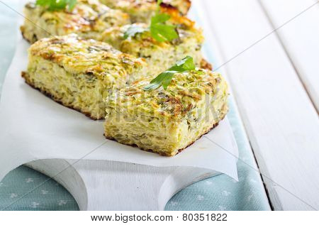 Courgette And Herb Bake