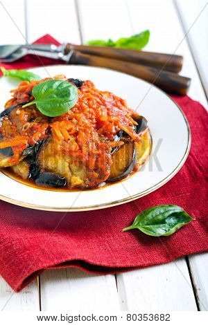 Aubergines And Courgettes