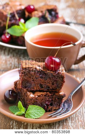 Sour Cherry Chocolate Brownies