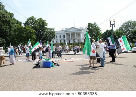 Protest The Syrian Diaspora Against Russia's Support Of Assad's Regime