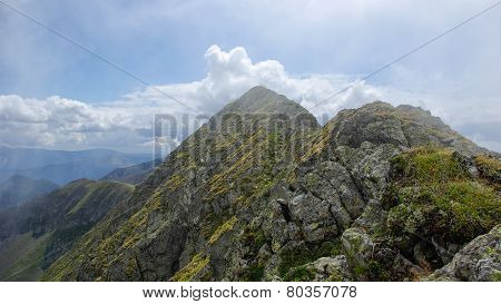 Moldoveanu Peak, Carpathian mountains, Fagaras, Romania