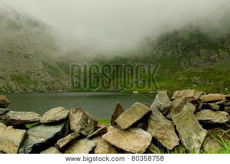 Capra lake (Goat lake) in the Transylvanian Alps, Romania
